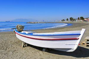Strand Pedregalejo, Málaga, Spanje